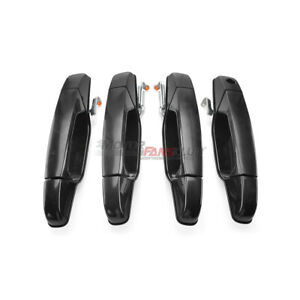 Black Exterior Front Rear Door Handle Set For Cadillac Escalade Esv Ext 07 2013
