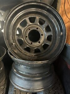 American Racing Ar 767 Black Wagon Wheels 16 5in 6 Lug