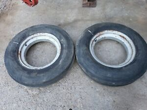 Farmall F20 Tractor Front Rims Tires 600 16 39 F20 Wheels For Cast Centers Ihc