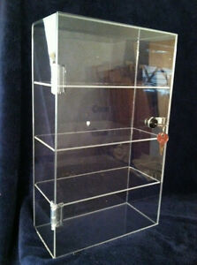 Clear Acrylic Display Tower Case 10 X 4 5 X 16 5 different Shelf Spacing Avail