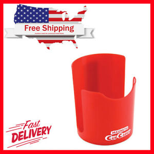 Red Magnetic Cup Caddy Vehicle Coffee Holder Storage Car Truck Auto Van Mug Hold