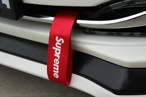 Red Car Tow Towing Strap Belt Jdm Supreme Racing Drift Rally Hook Universal X1