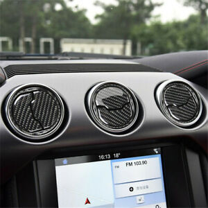 For Ford Mustang 2015 2019 9pcs Carbon Fiber Interior Air Vent Outlet Trim Cover