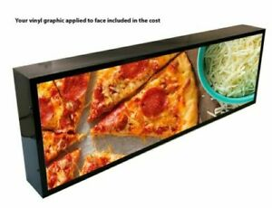 Outdoor Led Light Box Sign 12 x 60 x5 With Full Color Direct Print Graphics