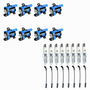 Acdelco 41 962 Spark Plugs Blue Ignition Coils Wire Set For Chevrolet Gmc