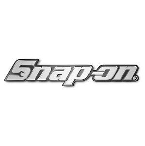 Snap On Tool Box Badge Set Chrome Looking Plastic 3d Sticky Back 8 Inch