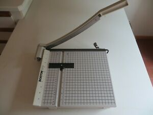 Boston 2612 Paper Cutter 12 Trimmer Heavy Duty Guillotine Works Great