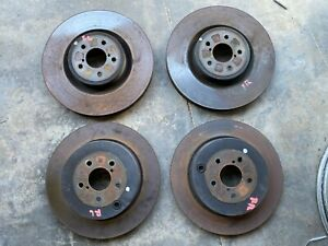 2019 Subaru Brz Brembo Brake Rotors Front Rear Left Right Set 11k Miles Oem 55
