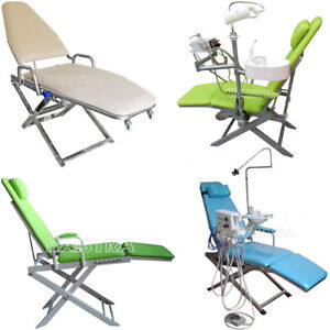 Portable Dental Unit Folding Chair Leather Doctor Stool Examination Chairs