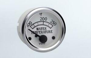 Vdo Cockpit Royale Electrical Water Temperature Gauge 2 1 16 Dia White Face