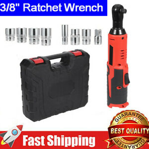 18v 3 8 Cordless Electric Ratchet Wrench Hand Angle Wrench 2000mah Battery Us