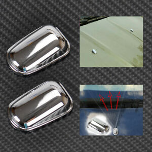 Chrome Windscreen Washer Cover Spray Nozzle Fit For Ford Kuga Escape 2013 14 Wh