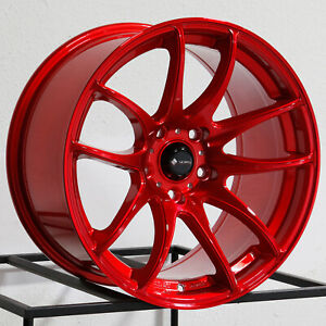 19x9 5 Vors Tr4 5x114 3 22 Candy Red Wheels Rims Set 4 73 1
