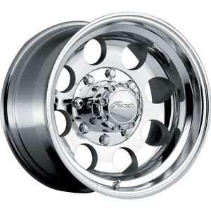 4 New 16x10 Pacer 164p Lt Mod Polished Wheels Rims 32 8x6 50