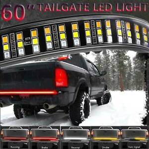60 Triple Row Led Lights Tailgate Brake Signal Bar Strip For Ford F150 250 350