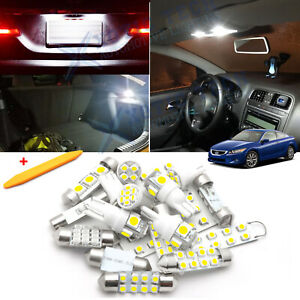 White Led Interior Dome Map Lights Package Kit For Honda Accord 2003 2012 Tool