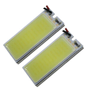 2x 12v Truck Car White 36 Cob Led Xenon Hid Dome Light Bulb Interior Panel Lamp