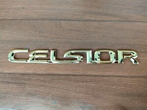 Toyota Celsior Ucf31 Gold Rear Trunk Emblem Badge Genuine