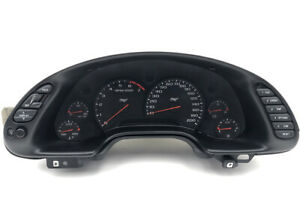 1999 00 01 02 03 04 Chevy Corvette Z06 C5 Dash Gauge Cluster With Bezel used
