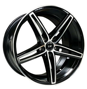 4 Four 18 Drift Racing 18x8 35 5 Lug Honda Toyota Wheel Rims Black Machine