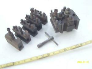 Quick Change Tool Post And 6 Holders Neal Skokie Made In Italy
