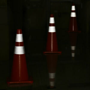 28 Safety Traffic Cones Reflective Collar Strip Sports Training Cone 6 Pcs