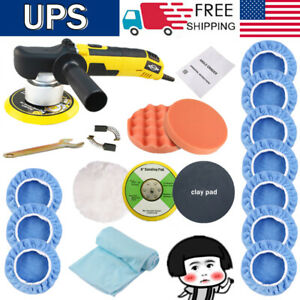 6 Dual Action Polisher Sander Buffer Variable Speed For Car Wax Sealing Glaze