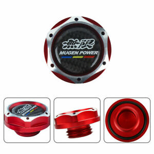 Jdm Red Mugen Engine Oil Cap With Black Sticker Real Emblem For Honda Acura