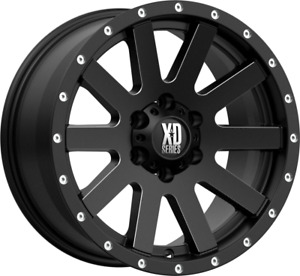 17x9 Xd Xd818 Heist 6x5 5 6x139 7 30 Satin Black Milled Wheels Rims Set 4