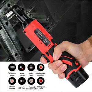 12v 3 8 In Cordless Electric Ratchet Wrench Socket Wrench Spanner Gun Power Tool