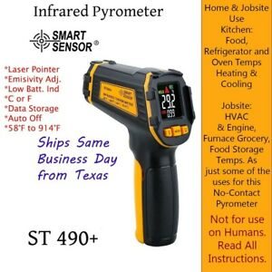 Non contact Laser Point Infrared Pyrometer Thermometer Digital Auto Off c Or f