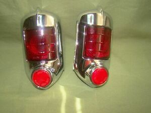 1951 1952 Chevy Red Tail Lights Convertible Coupe 51 52 Taillight Assemblies