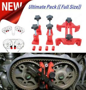 9pcs Car Auto Dual Cam Clamp Camshaft Engine Timing Sprocket Gear Locking Tool