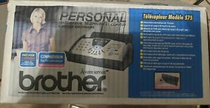 Brother Fax 575 Personal Plain Paper Fax Phone Copier New open Box