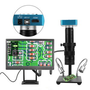 34mp High Definition Electronic Video Microscope Phone Repair Magnifier 110 240v