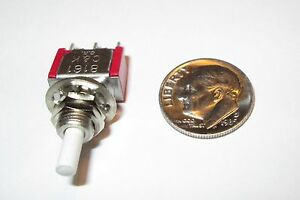 Push on Push off Mini Push Button Switch C k Spdt On on Nos