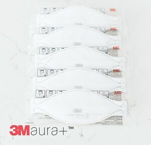 New Model 5 Pack 3m 9210 Plus Aura Factory Sealed Fedex 2 Day Air