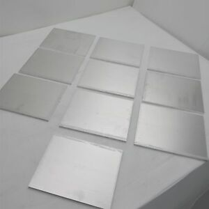 25 Thick 6061 Aluminum Plate 6 625 X 8 625 Long Qty 10 Stock Sku 174262