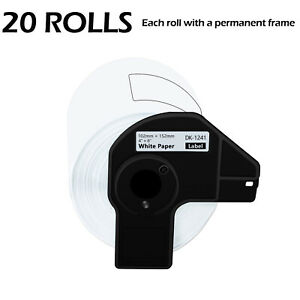 20 Roll 200 Shipping Labels Dk 1241 4 X 6 For Brother Ql 1050n Ql 1110nwb
