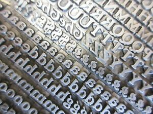 Letterpress Lead Type 18 Pt Buffalo H C Hansen Type Foundry A24