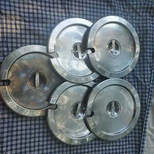 Stainless Steel Steam Table Soup Pot Lids Lot Of 5