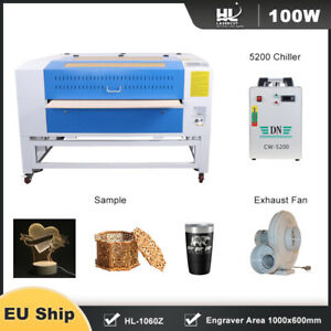 Reci 100w Laser Cutter Engraving Machine X y Linear Guide cw 5200 Chiller