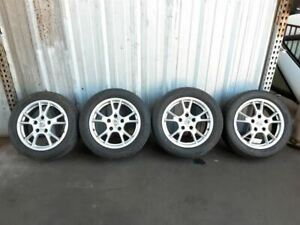 Set 4 Wheels Rims With Tires 17 Inch 98736212205 Porsche Boxster Cayman 987 Oem