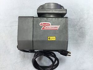 Dayton Speedaire Diaphragm Compressor Vacuum Pump Model 2z866