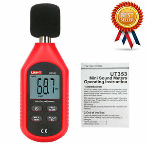 Uni t Ut353 Mini Sound Level Meter 30 130db Instrumentation Noise Decibel Mon