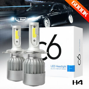 Cob H4 Led Headlight Kit Light Bulbs Hi lo Beam 6000k 9003 Hb2 100w 20000lm