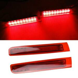 2x Led Car Truck Drl Led Light Bar Brake Flowing Turn Signal Stop Tail Strip