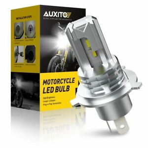 Fanless H4 9003 Led Headlight Hi low Beam 6000k Bulb For Motorcycle Super Bright