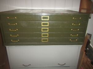 Vintage Lyon 5 drawer Map Blueprint Etc File Cabinet Free Lateral File