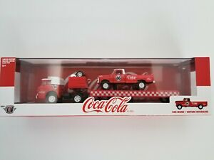 M2 Machines Auto Hauler Coca Cola 1970 Ford C-600 & 1970 Ford F-100 Custom 4x4